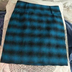 VTG Wool Plaid Pencil Skirt